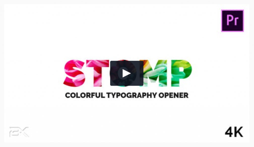 Colorful Typography Opener Premiere Pro