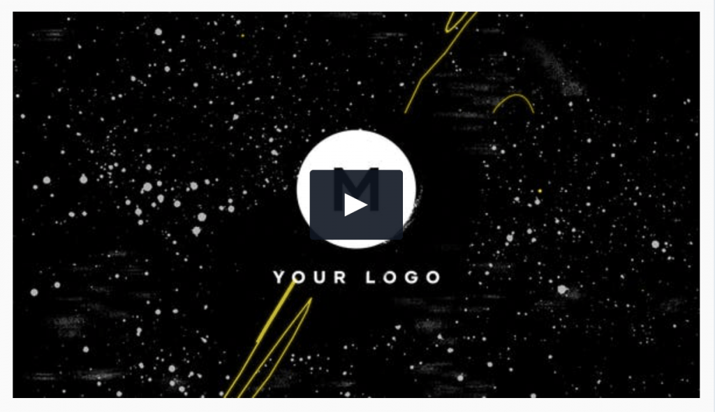Scribble Grunge Logo Template for Premiere Pro