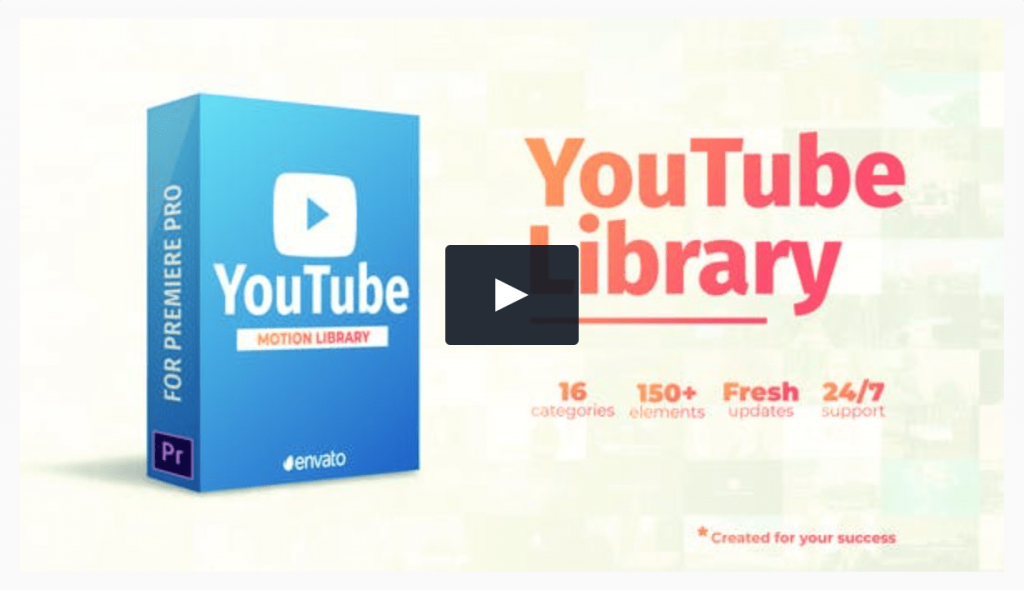 Youtube Library Template Premiere Pro