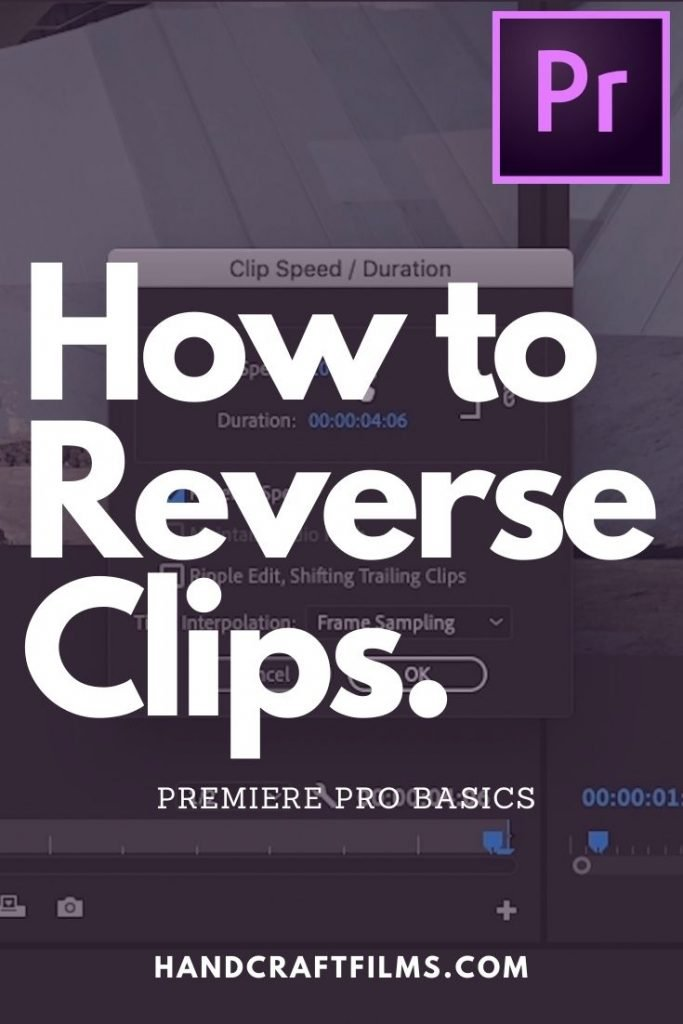 How to Reverse Clips in Premiere Pro