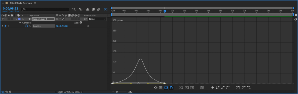 Curve animation and keyframe velocity with curve editor in after effects